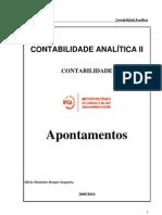 Sebenta Contabilidade Analitica  2009-2010[1]