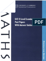 Gce O Level Examination Past Papers With Answer Guides - Maths