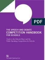 Speech Debate Competition Handbook