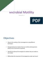 Microbial Motility