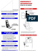 Pa 28 Safety Card