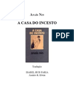 A Casa Do Incesto - Anaïs Nin