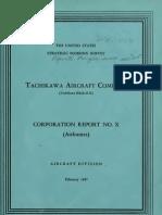 USSBS Report 25, Tachikawa Airplane Company