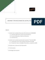 Informe y Proyecciones de Jazztel Telecom, S.A