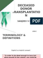 Deceased Donor Transplantation