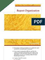 Report Organization