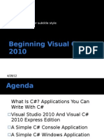 Beginning Visual c