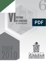 Secgob. 6 Informe Gobierno Ulises. 2010