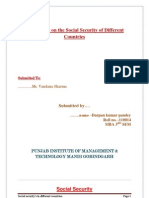 Social Securities in Different Countties