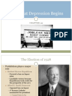 American History Honors the Great Depression, Roosevelt and the New Deal