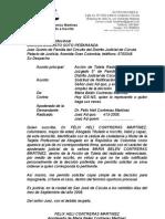 acta de convivencia estudiantil proyecto i sem iii, 2008-ii