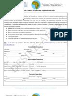 Scholarship Form Postgraduate