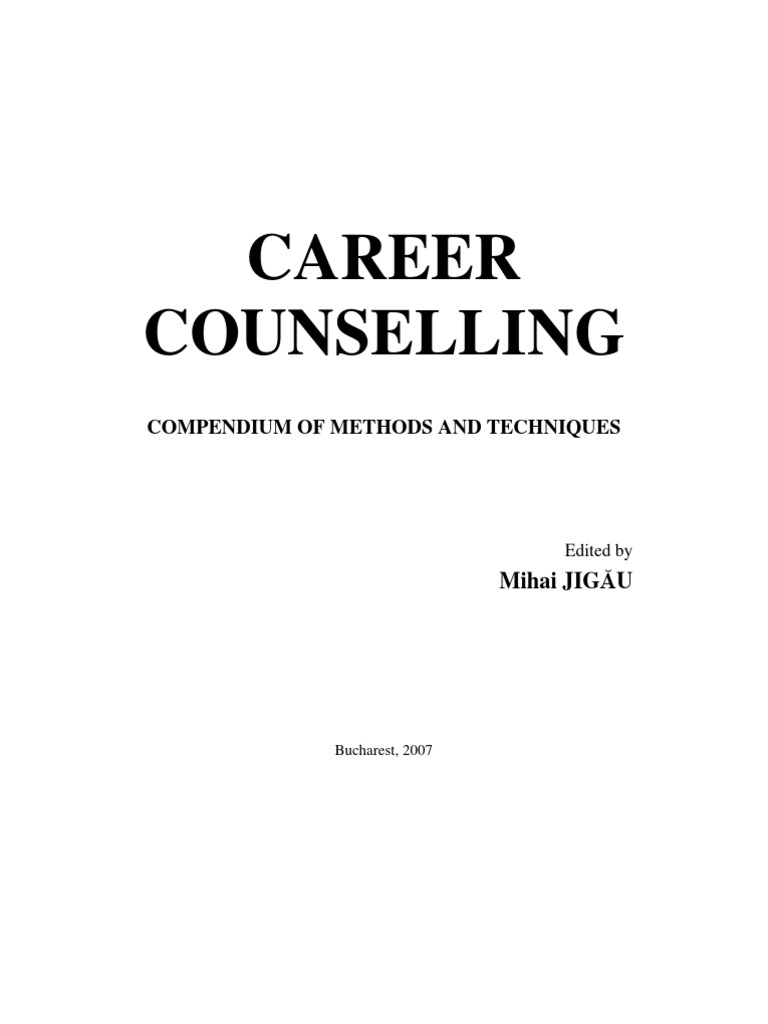 Career Counselling. Compendium of Methods and Techniques ...