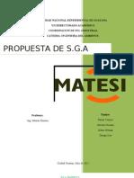 SGA. MATESI S.A
