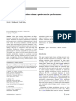 Does Electrical Stimulation Enhance Post-exercise Performance Recovery