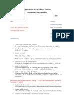 Organización de  la Colonia en Chile...