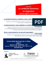 2010, CLP-UNLP, Seminario Condición femenina, Programa