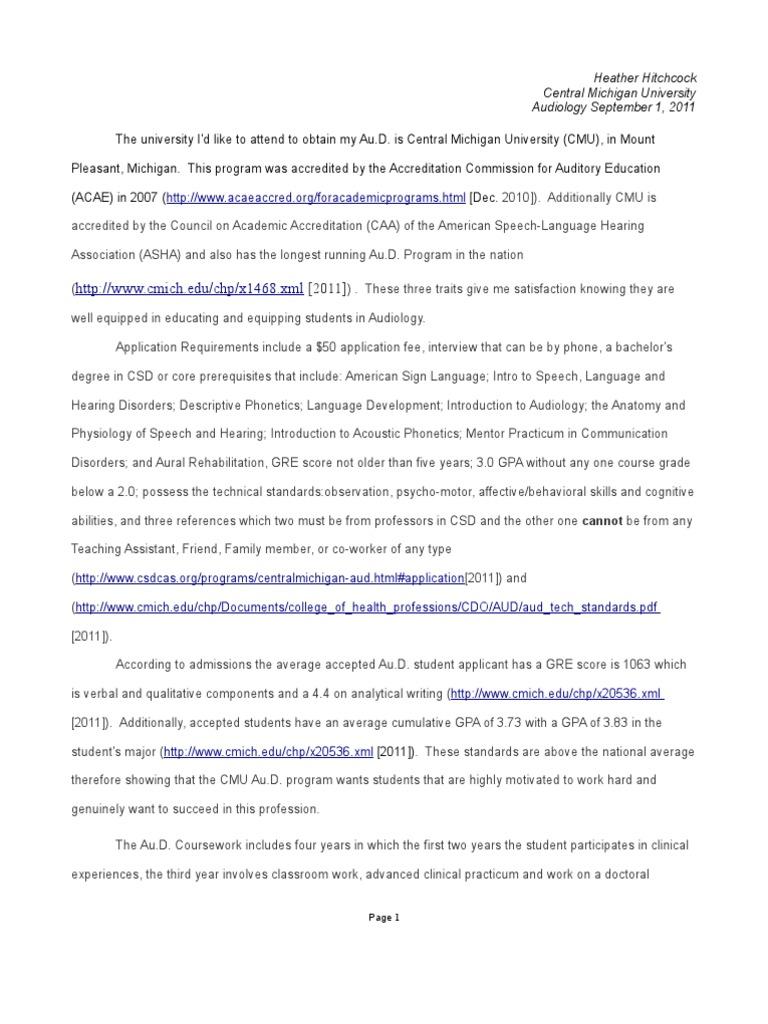 AuD paper | Audiology | Otology