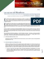 Tema 10 La Ley de Los Miembros