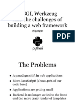 WSGI Werkzeug and the Challenges of building a python web framework