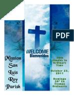 Bulletin for 10-23-2011
