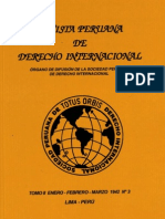 Revista Peruana de Derecho Internacional.TOMO II. Enero-Febrero-Marzo. 1942 Nº 03.