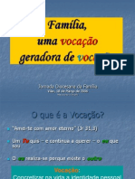 Familia Uma Vocacao Ger-Vocacoes