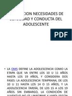 Valoracion Necesidades de Sexulidad y Conducta Del Adolescente
