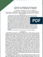 TRA &TAM 原文-消費者科技接收模式