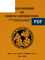 Revista Peruana de Derecho Internacional. Tomo II. Nº 05. Julio-Agosto-Setiembre. 1942 N°5