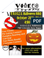 VOICES Napa - Halloween BBQ - Oct 26th