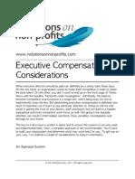 Executive Compensation Considerations