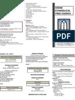 Church Bulletin -October 23rd