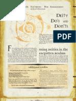 Deity Do's and Don'Ts