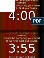 Countdown to Beginning of Service