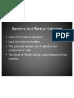 Barriers to Effective Listening & Effective Listening Strategies