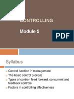 Controlling Module 5- MBP