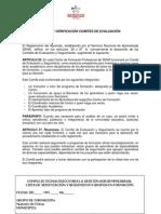 Formato para comites de evaluación