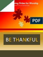 Let Us Be Thankful Worship Slides