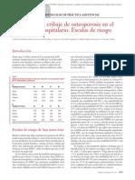 12.010 Protocolos de Cribaje de Osteoporosis en El Medio Extra Hospital a Rio. Escalas de Riesgo
