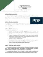 Reglement Dechetterie Artisans 2006