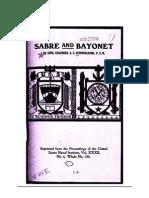 Sabre and Bayonet - A.C. CunningHam U.S. Navy 1906