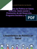 Reforma y Programas Sociales