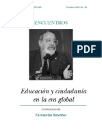 Educación y Ciudadanía en La Era Global
