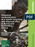 Chemical Contamination for E-Waste