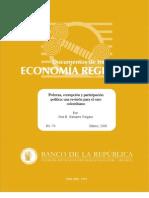 corrupción, pobreza caso colombiano