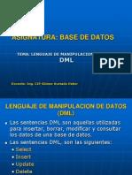Clase modelo - DML