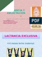 Lactancia Materna y Ablactacion