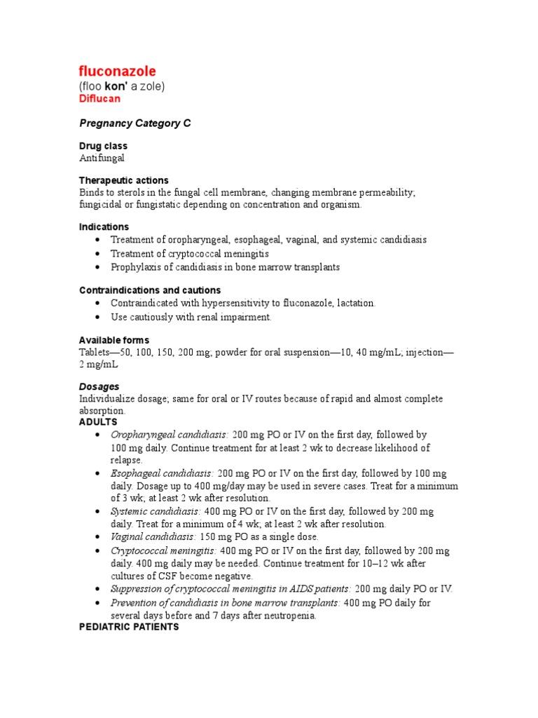 Fluconazole   Candidiasis   Medical Treatments on
