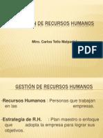 Gestion de Recursos Humanos Sesion 01